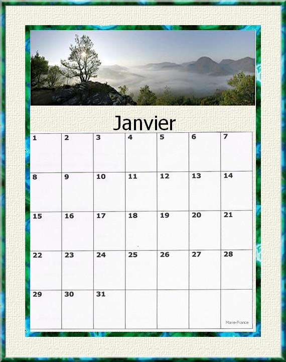 Calendrier Personnalisable Gratuit | Calendar Template 2016